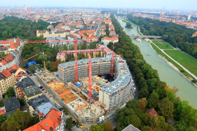 Leitner Bauunternehmung, Großbaustelle Auenstraße München