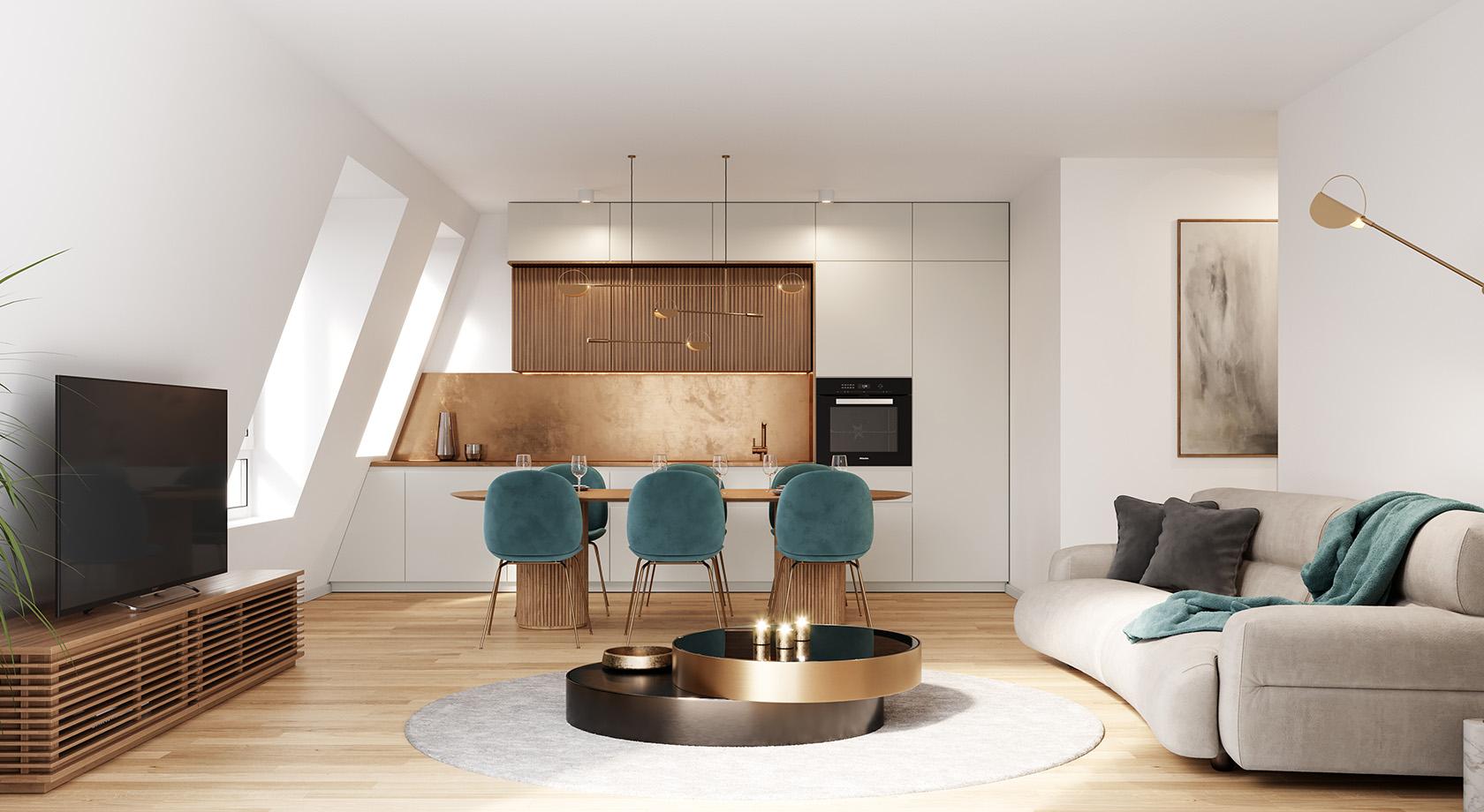Geiselgasteig 100 L HOMES Wohnzimmer