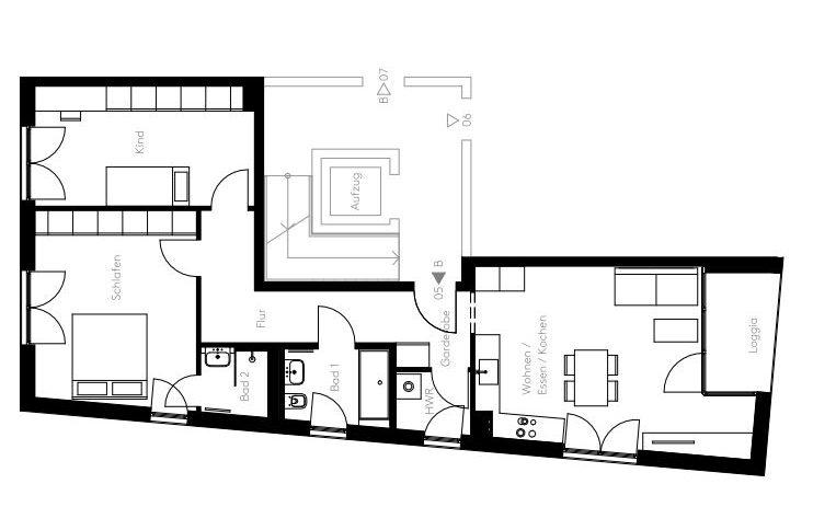 L HOMES Säbener Straße Eigentumswohnung Grundriss Wohnung 5
